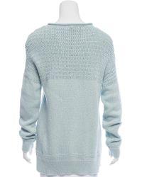 Loro Piana - Blue Long Sleeve Mélange Sweater W/ Tags - Lyst