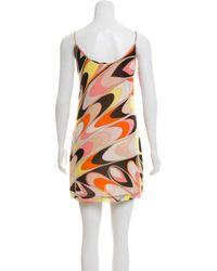 Emilio Pucci - Natural Printed Chiffon Dress Tan - Lyst