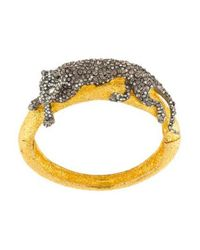 Alexis Bittar - Metallic Siyabona Sunset Medium Panther Hinge Bracelet Gold - Lyst