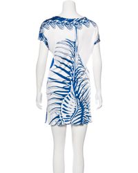 Emilio Pucci - Blue Printed Midi Dress - Lyst