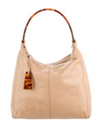 Chanel - Metallic Lambskin Cc Hobo Gold - Lyst