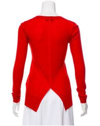 Rag & Bone - Red Silk-trimmed Sweater - Lyst