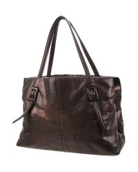 Roger Vivier | Metallic Buckle Leather Tote Black | Lyst