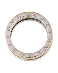 BVLGARI - Metallic B.zero 1 Ring White - Lyst
