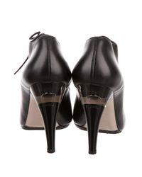 Chanel - Metallic 2015 Embellished Cap-toe Booties Black - Lyst