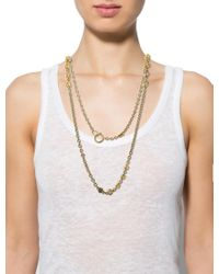 Chanel - Metallic Crystal Station Necklace - Lyst