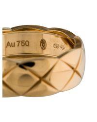 Chanel - Metallic 18k Coco Crush Ring Yellow - Lyst