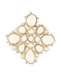 Chanel - Metallic Resin & Lacquer Brooch - Lyst