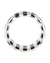 Chanel - Metallic Cc Faux Pearl Resin Bangle - Lyst