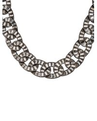 Chanel - Metallic Oval Curb Chain Necklace - Lyst