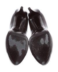 Chanel - Metallic Leather Cap-toe Pumps Black - Lyst