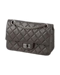 Chanel - Gray Reissue 224 Double Flap Bag - Lyst