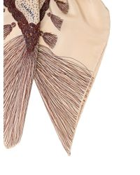 Chanel - Natural Square Tassel Scarf Tan - Lyst