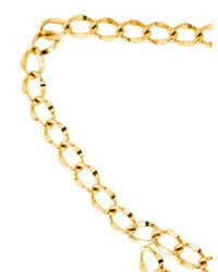 Chanel - Metallic Chain-link Medallion Belt Gold - Lyst