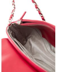 Chanel - Metallic Half Moon Wallet On Chain Red - Lyst