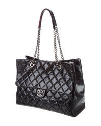 Chanel - Metallic 2015 Large Duo Tote Black - Lyst