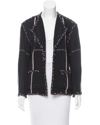 Chanel | Blue Tweed Open Front Jacket Navy | Lyst