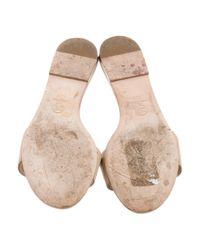 Chanel - Natural Camellia Slide Sandals Tan - Lyst