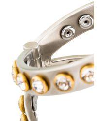 Chanel - Metallic Crystal Hinged Cuff Bracelet Gold - Lyst