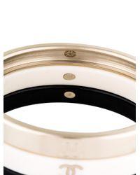 Chanel - Metallic Stacking Bangle Set Gold - Lyst