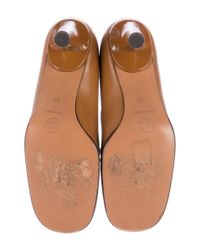Chanel - Brown Leather Cap-toe Pumps - Lyst