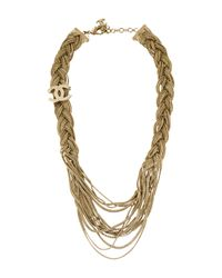 Chanel - Metallic Braided Multistrand Necklace Gold - Lyst