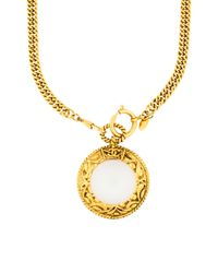 Chanel - Metallic Vintage Magnifying Glass Pendant Necklace Gold - Lyst