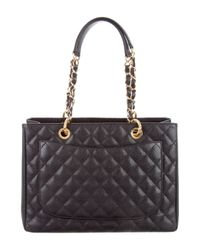 Chanel - Metallic Grand Shopping Tote Black - Lyst