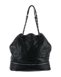 Chanel | Black Expandable Drawstring Tote | Lyst