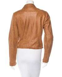 Dior - Brown Single-breasted Leather Jacket - Lyst
