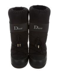 Dior - Black Logo Moon Boots - Lyst