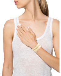Dior - Metallic Wrap Bracelet Gold - Lyst