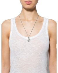 Dior | Metallic Teddy Bear Pendant Necklace Silver | Lyst