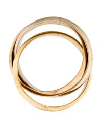 Cartier - Metallic Trinity De Ring White - Lyst