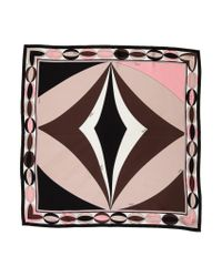 Emilio Pucci - Pink Silk Printed Scarf - Lyst