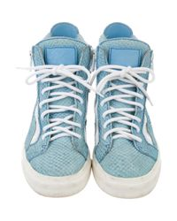 Giuseppe Zanotti - Blue High-top Sneakers - Lyst