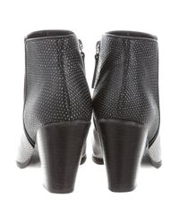 Giuseppe Zanotti - Black Embossed Leather Ankle Boots - Lyst