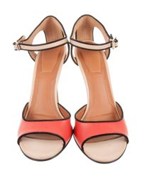 Givenchy - Metallic Colorblock Cutout Sandals Beige - Lyst