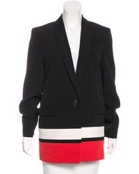 Givenchy - Black Wool Colorblock Blazer - Lyst