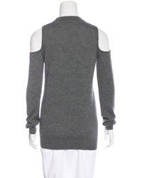 Louis Vuitton - Gray Cashmere Cold Shoulder Top - Lyst