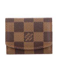 Louis Vuitton - Damier Cufflink Holder Brown for Men - Lyst
