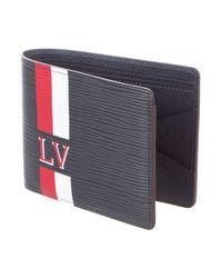 Louis Vuitton - Blue Epi Stripes Multiple Wallet for Men - Lyst