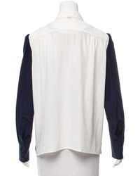 Louis Vuitton - Blue Lace-accented Long Sleeve Top Navy - Lyst