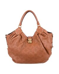 Louis Vuitton - Brown Mahina L Hobo Cognac - Lyst