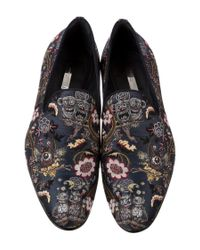 Louis Vuitton - Metallic Garden In Hell Embroidered Talisman Loafers Blue - Lyst