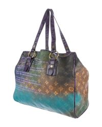 Louis Vuitton - Blue Karung-trimmed Richard Prince Heartbreak Jokes Tote - Lyst