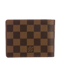 Louis Vuitton - Natural 2017 Damier Ebene Savane Multiple Wallet Brown for Men - Lyst