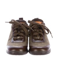 Louis Vuitton - Green Monogram Lace-up Sneakers - Lyst