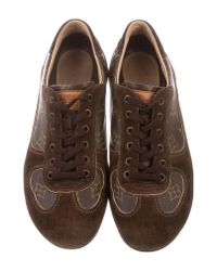Louis Vuitton - Natural Monogram-paneled Low-top Sneakers Brown - Lyst