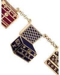 Louis Vuitton - Metallic Porte Cles Malle Chaine Keychain Brass - Lyst